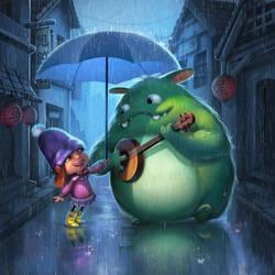 Singing in the rain by Nekurai