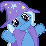Shrugpony Trixie by MoongazePonies