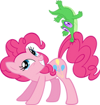 Pinkie Pie and Gummy by MoongazePonies
