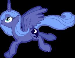 Luna - Nekkid by MoongazePonies