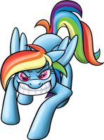 Rainbow Dash Attack by MoongazePonies
