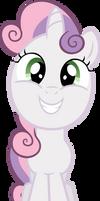 Sweetie Belle grin by MoongazePonies