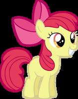 Excited Applebloom by MoongazePonies