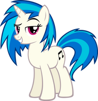 Vinyl Scratch - No Shades by MoongazePonies