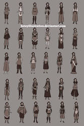 Yeoja clothing Thumbnails by betsyillustration