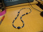 Blue and Gold Pearls by Hell-is-a-56