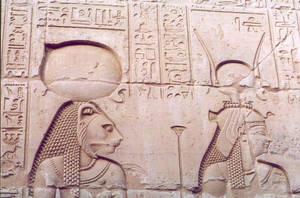Sehmet and Hathor by egypt-club