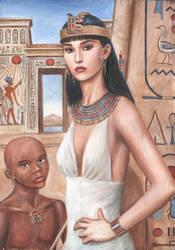 Amarna Lady by Dashinvaine by egypt-club