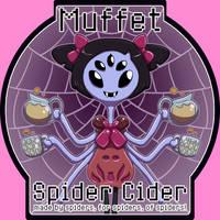 Spider Cider tap label by Ragadabah