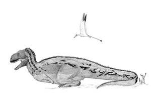 Lazy Eoabelisaurus by pilsator