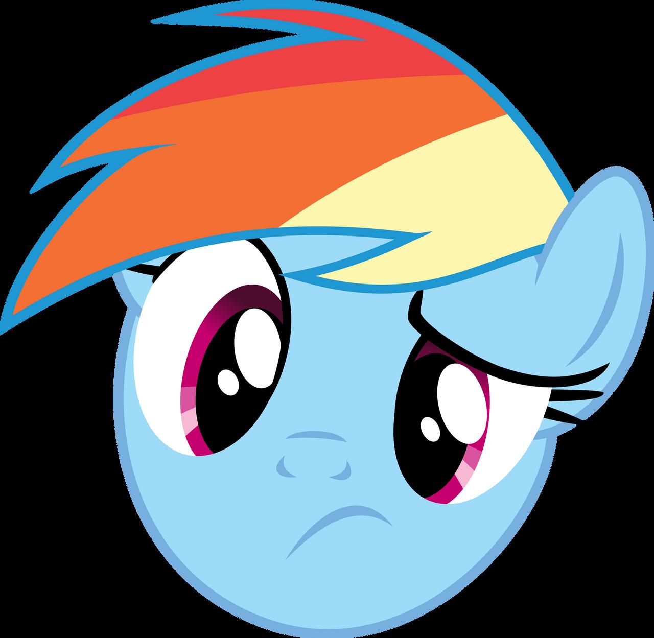 Rainbow Dash - Huh? by namelesshero2222