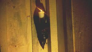 The candle in pine by brunaschneemann