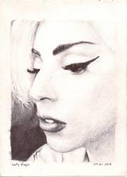 Gaga Ball Point Pen Art by apol-art