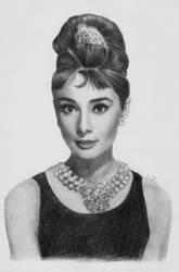 Audrey Hepburn by OrnellaDallarth