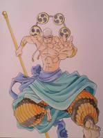 Eneru god of the thunder by Fluffy-foxlady