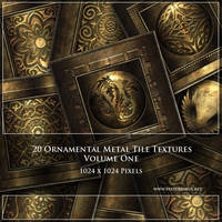 Metallic Ornamental Tile Textures (Commercial) by roseenglish