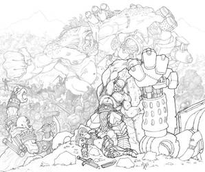 War: line art by Howietzer