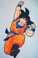 ''We Won!'' Son Goku by SakakiTheMastermind