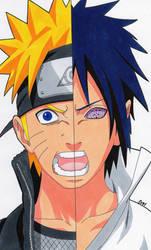 Eternal Rivals - Naruto And Sasuke by SakakiTheMastermind
