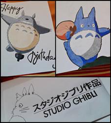 My Neighbour Totoro - Birthday Card - by SakakiTheMastermind