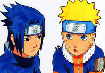 ''What Should We Do Now?'' - Naruto and Sasuke by SakakiTheMastermind