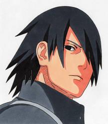 Tegami Art No.53 .:Sasuke Uchiha (adult):. by SakakiTheMastermind