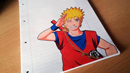 Tegami Art No.56 .:Naruto Goku Style:. by SakakiTheMastermind