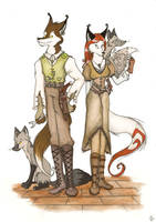 The newest OCs- conceptual art by FoxInShadow
