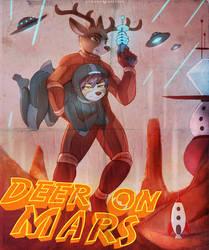 Deer On Mars by FoxInShadow