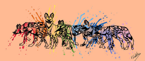 Painted Dogs Redo by Thagomizer89