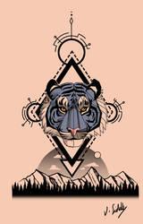 Geometric Tiger head by Thagomizer89