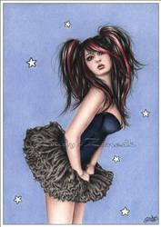 Little blue star by Zindy