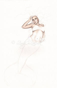 First Mermaid wip by Zindy
