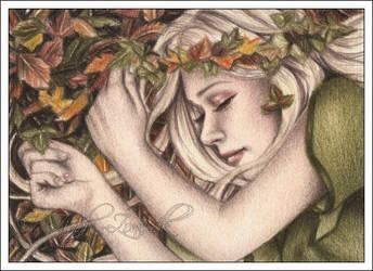 Sleepy Autumn ACEO by Zindy