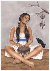 Raven Book Illustration by Zindy