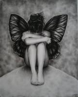 Sad Butterfly Girl by Zindy