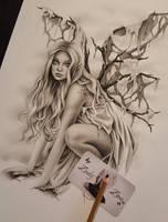 Dark Earth Fairy in making by Zindy