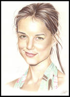 Katie Holmes in colour by Zindy