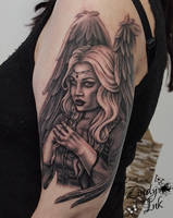 Dark Angel Tattoo by Zindy