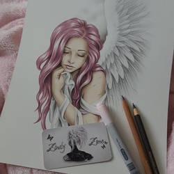 New pink haired angel in the making by Zindy