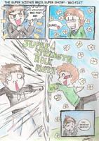 The Super Science Bros Super Show- Brofist by Rizathepenguin
