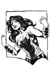 Wonder Woman sketch inks by MarcelTheSouza