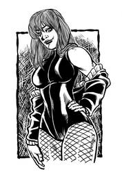 Black Canary sketch inks by MarcelTheSouza