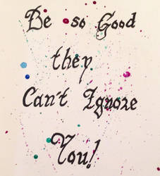 Calligraphy Quote Practice #2 by KoiCatCreations