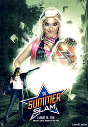 WWE Summerslam 2018 Poster Alexa Bliss Vs Rousey by workoutf