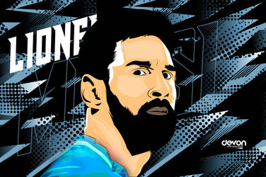 Messi Vector Art by workoutf