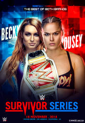 WWE Survivor Series 2018 Poster Becky Vs Rousey by workoutf