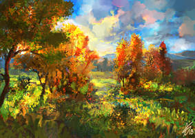 Speedpainting | Autumn by LaurensSpruit