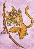 Nyasuu Crouch by PictoShaman