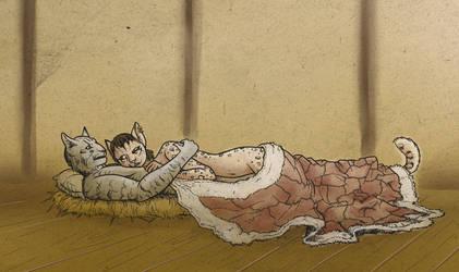 Aravi cuddles by PictoShaman